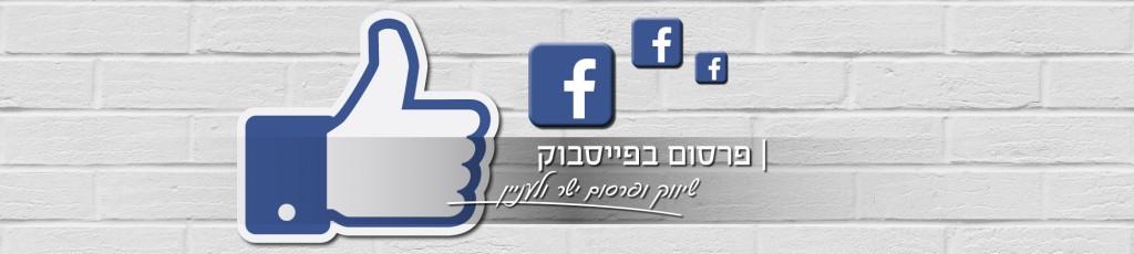 הפרסום בפייסבוק